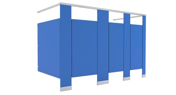 restroom stalls 3D model