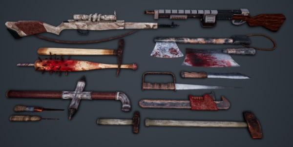 3D 14 weapon packs