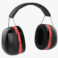 noise-cancelling headphones 3D model