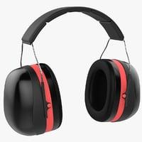noise-cancelling headphones 3D model