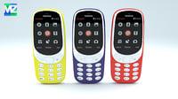 nokia 3310 3D model
