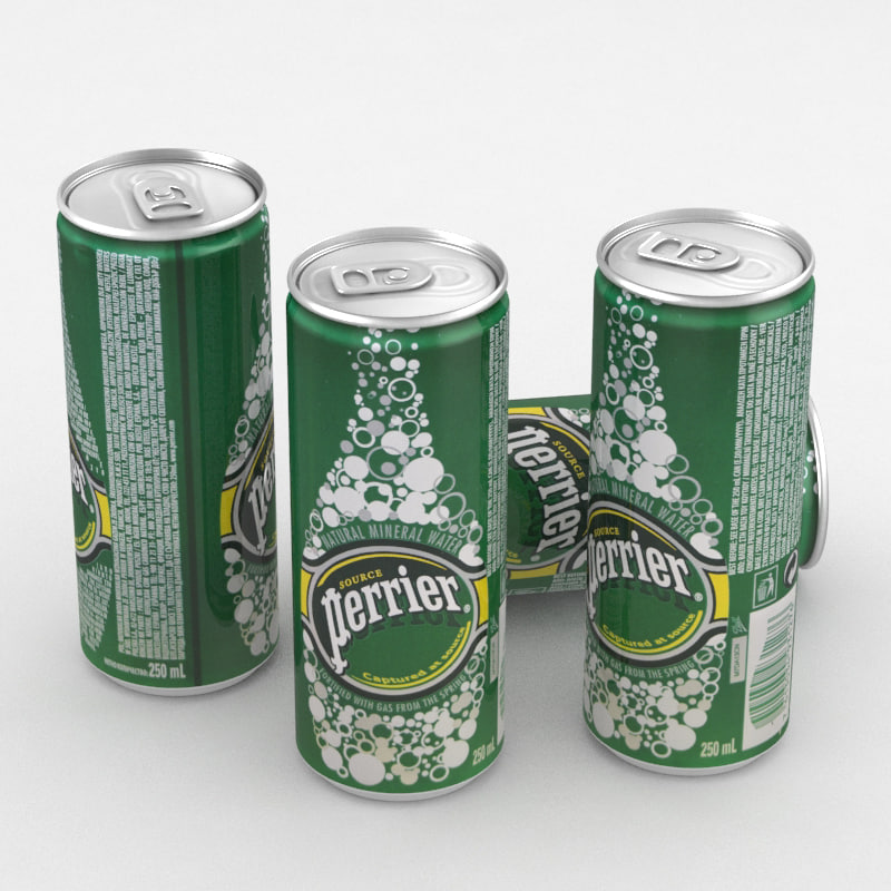 3D model beverage water perrier