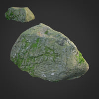 3D scanned nature stone 014
