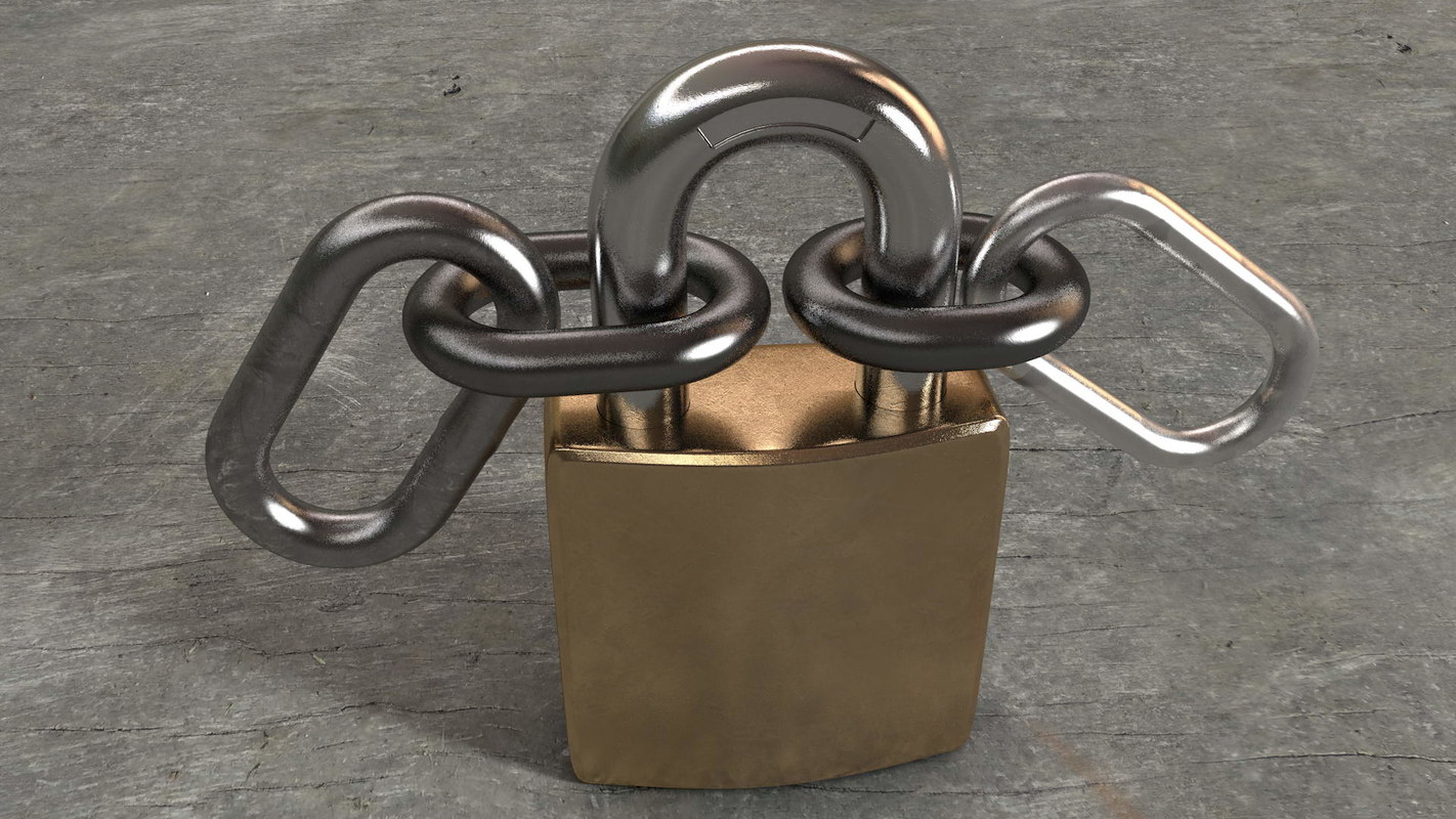 padlock chains 3D model