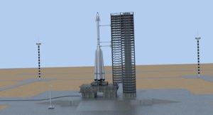 launch complex 3D model