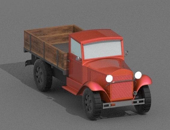 truck antique 3D model