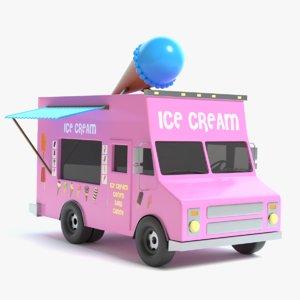 3D ice cream truck model