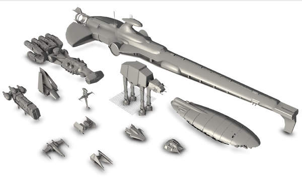 star wars ship 3D model