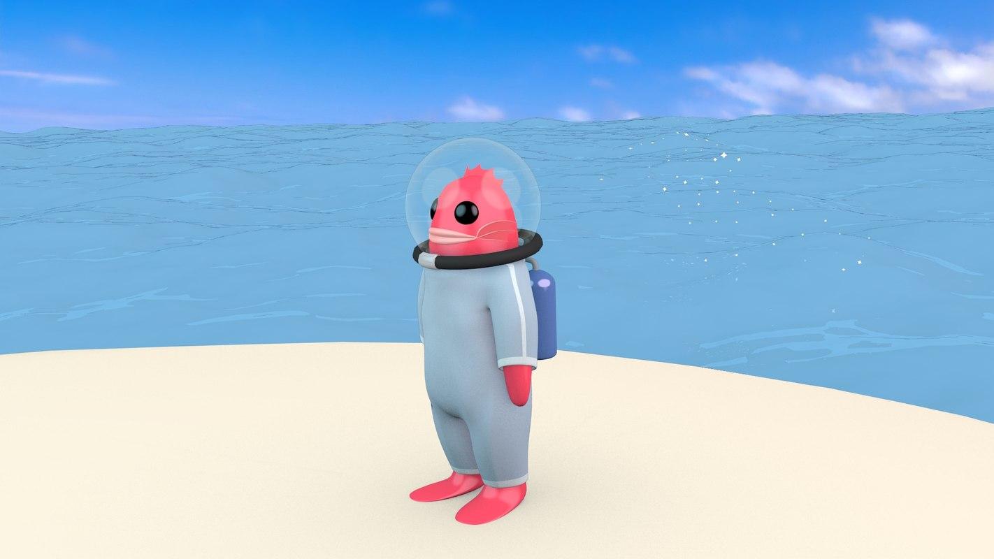 dappya sea creature model