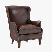 Photorealistic Breille Wingback Chair