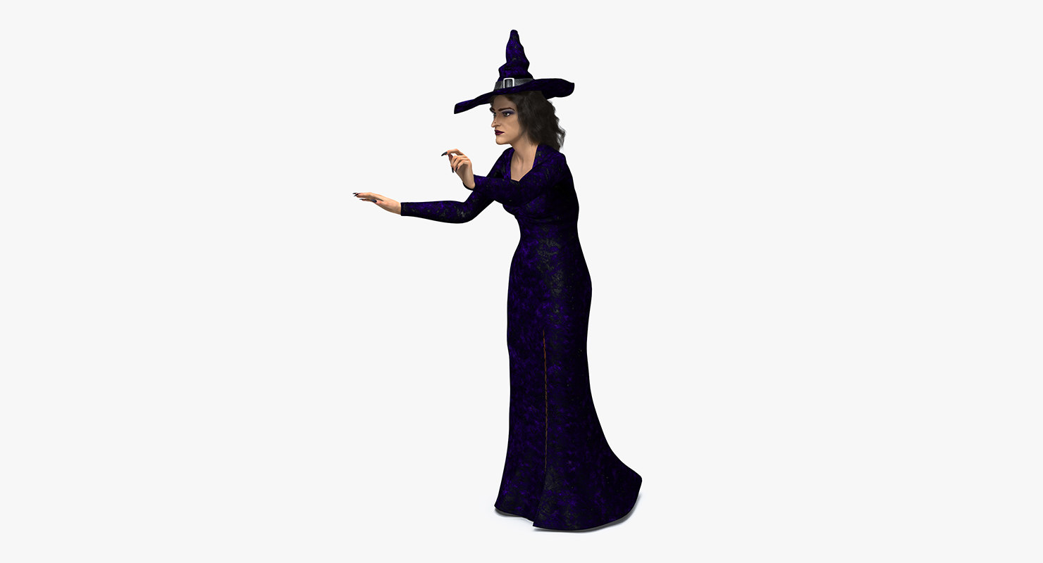 witch woman rigged 3D model
