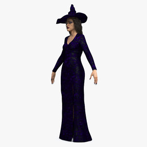 3D witch woman model