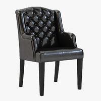 3D realistic armchair