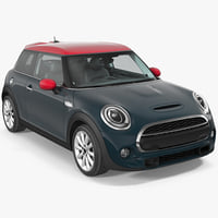 3D small economy door generic car model