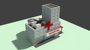 hospital helicopter 3D model