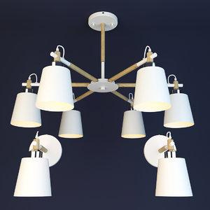 3D scandinavian lamp lights
