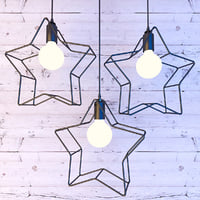 star pendant lamp lights 3D model