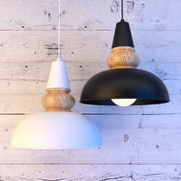 3D model wood metal lamp lights