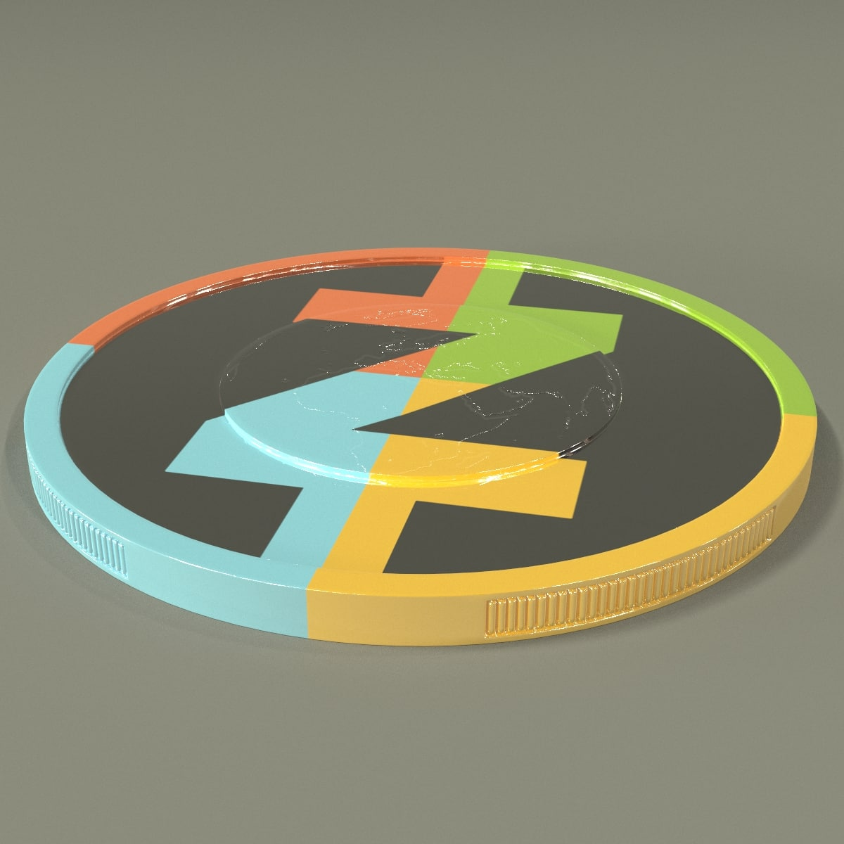 3D zcash coin