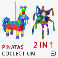 3D model pinatas star mexican