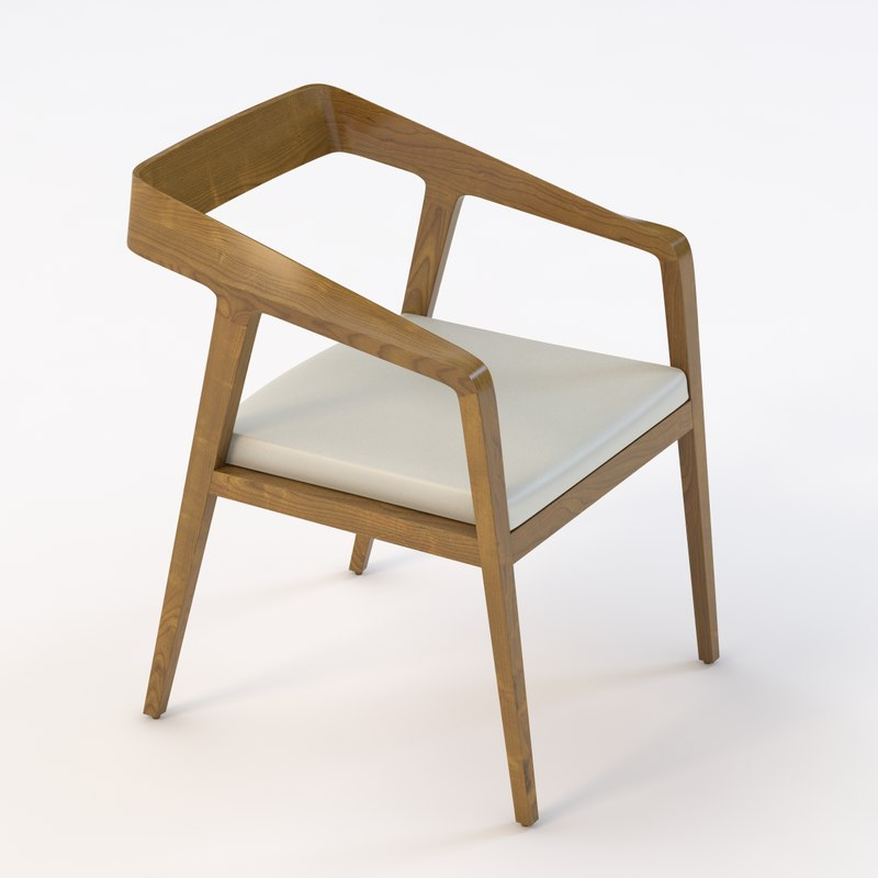 realistic armchair 3D model