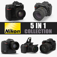 Nikon Cameras 3D Models Collection 2