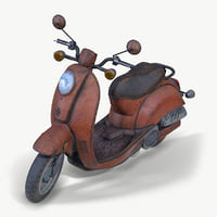 Old Vespa Motorcycle