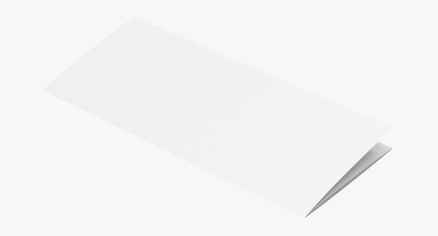 trifold brochure mockup 3D model