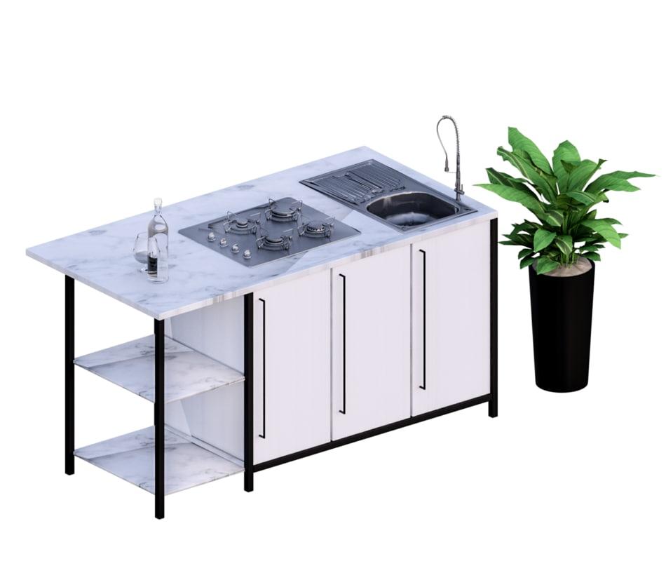 3D model kitchen revit