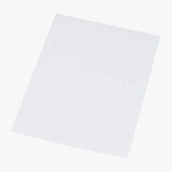 single paper sheet 01 3D