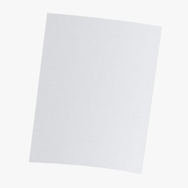 single paper sheet 02 3D model