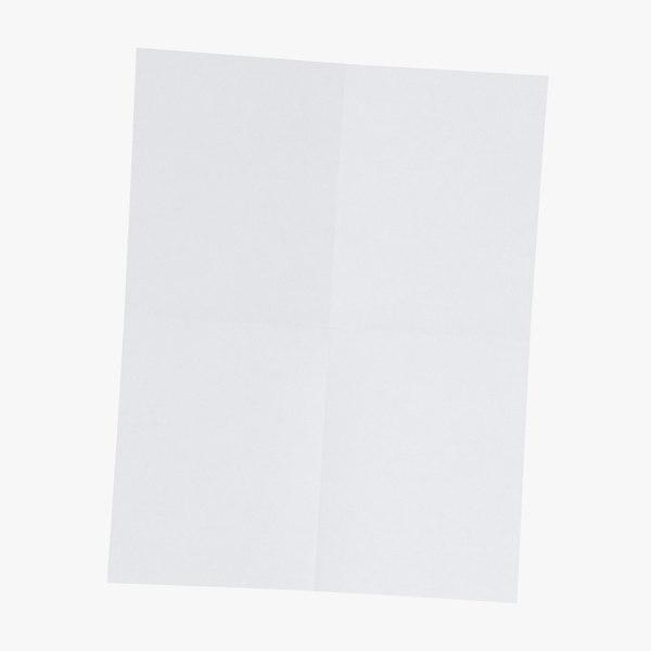 single paper sheet 03 3D model