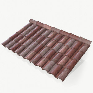 roof tiles clay 3D