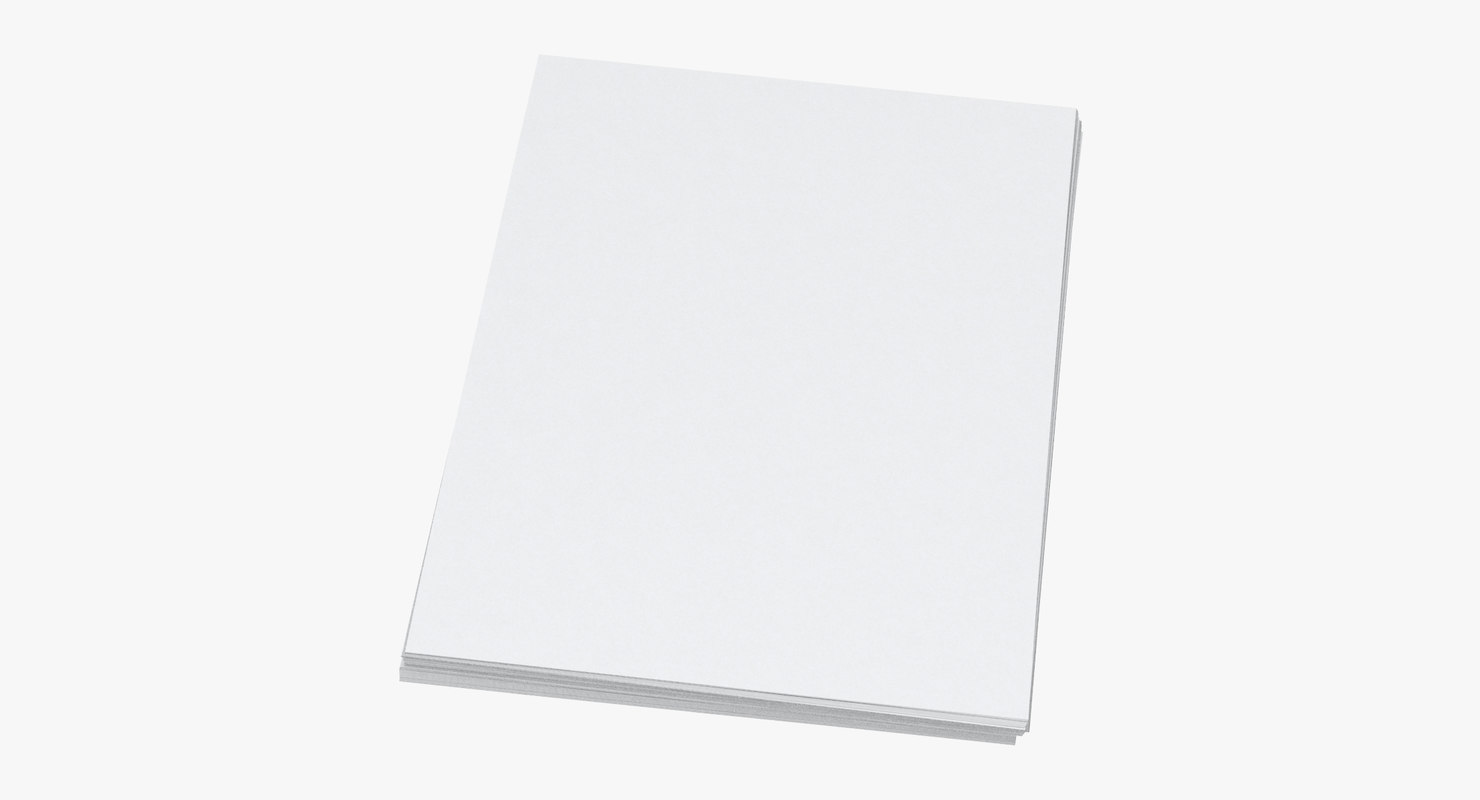 3D small stack paper sheets model