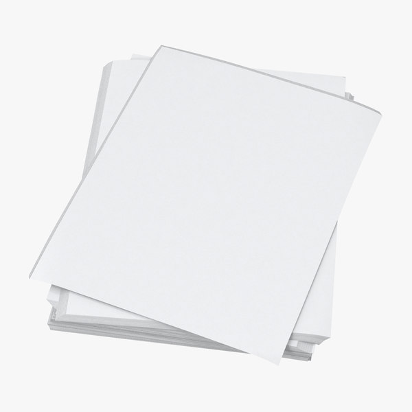 small stack paper sheets 3D model