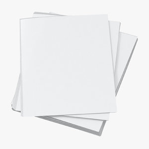 3D small stack paper sheets