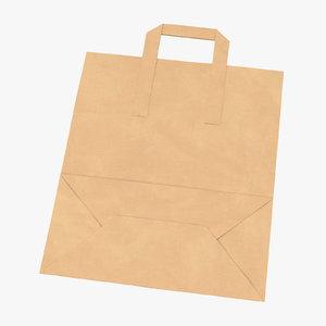 grocery bag paper handle 3D