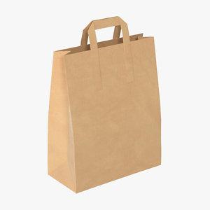 grocery bag paper handles model