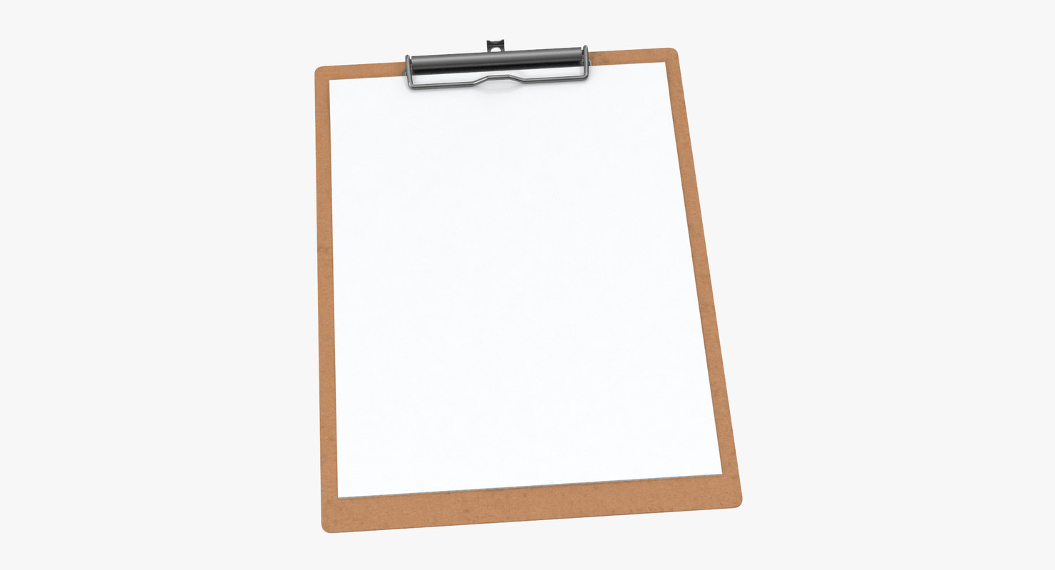paper sheets clipboard 02 3D model