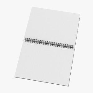 spiral sketchbook book 01 3D model