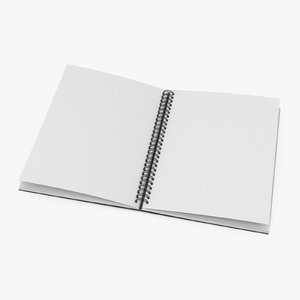 3D spiral sketchbook 01 04 model