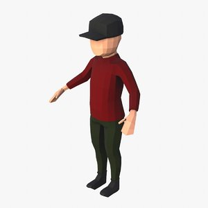 boy character 3D model