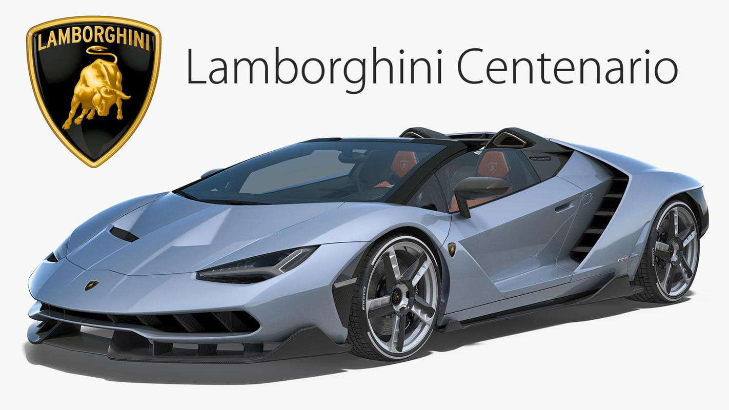 Lamborghini Centenario Model Turbosquid 1206528