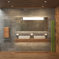 Photorealistic Bathroom Scene 02
