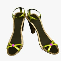 3D model heel shoes