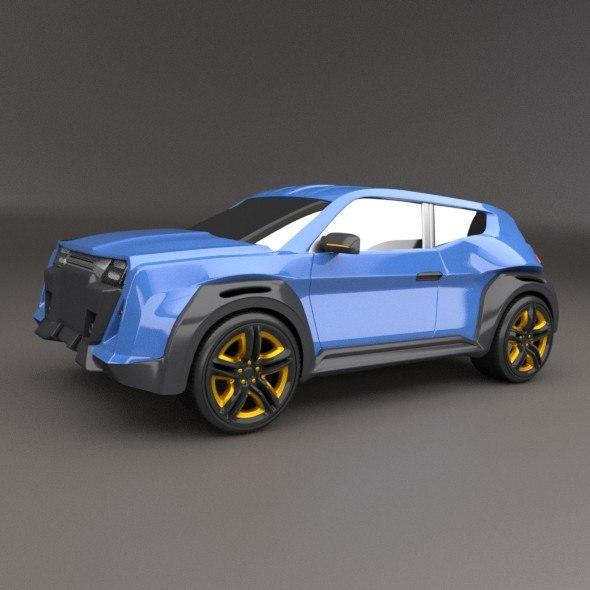 3D concept vehicle suv model