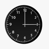 3D bondis wall clock model