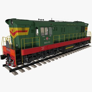 3D model diesel locomotive chme3