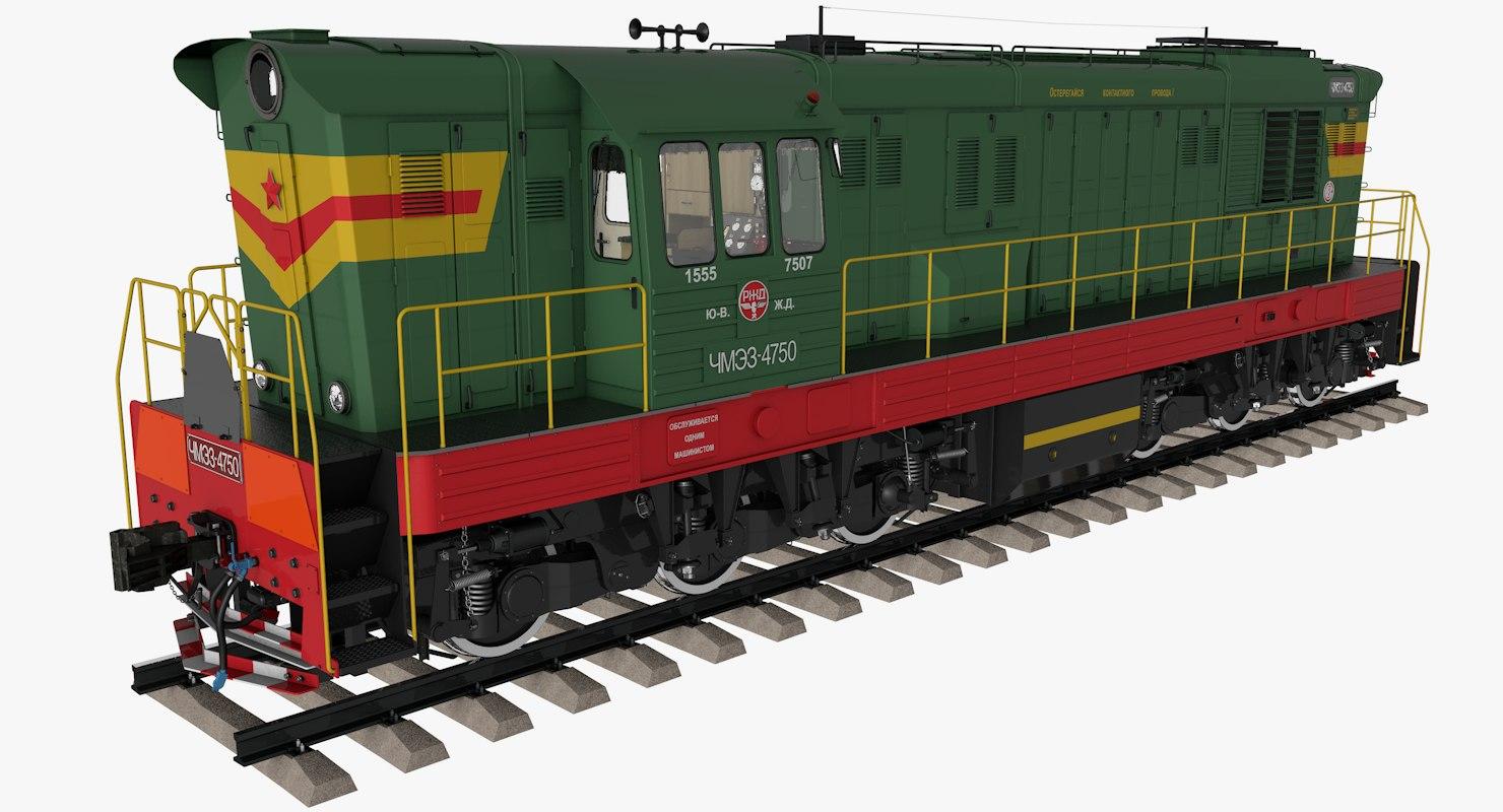 3D model diesel locomotive chme3