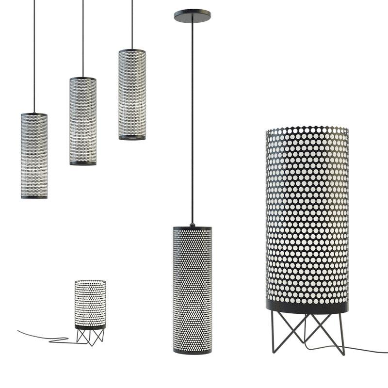 set lamps gubi 3D